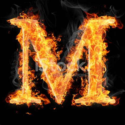 Door Designs by Fonts And Symbols In Fire Letter M Stock Photos