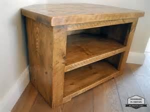 Homemade Tv Cabinet Rustic Pine Corner Tv Unit Solid Chunky Wood Stand Cabinet