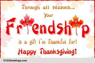 friendship wishes on thanksgiving free friends ecards greeting cards 123 greetings