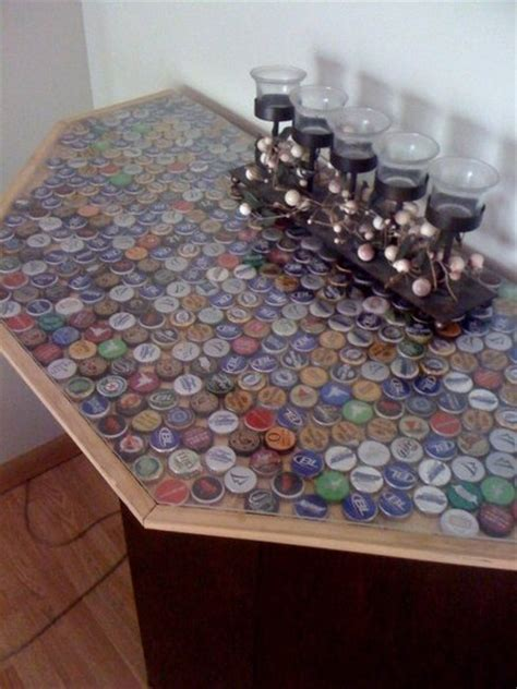 bottle cap bar top bar with bottle cap bar top by dakremer lumberjocks