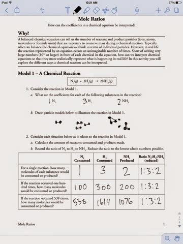 Mole Ratio Worksheet by Chemistry Assignments Mole Ratio Worksheet