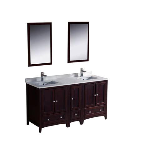 fresca oxford 60 in vanity in mahogany with