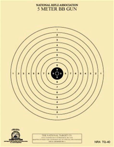 printable bb gun targets pdf official nra airgun targets pellet gun bb gun shooting