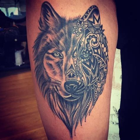 thigh tattoos for females womens wolf thigh tattoos wolf womens thigh
