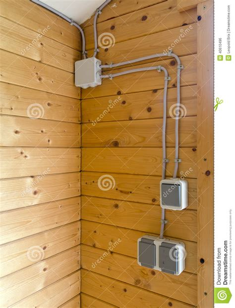 external electrical installation stock photo image 40610496