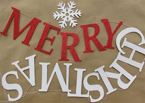 christmas decorations pb inspired merry christmas banner bren