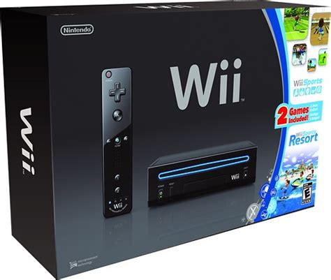 wii sport console nintendo nintendo wii console black with wii sports and
