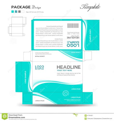 Supplements And Cosmetic Box Design Stock Illustration Image 67781827 Subscription Box Design Template
