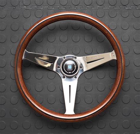 nardi volante nardi corn steering wheel 350mm wood with polished spokes