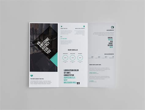 45 free psd tri fold bi fold brochures templates for