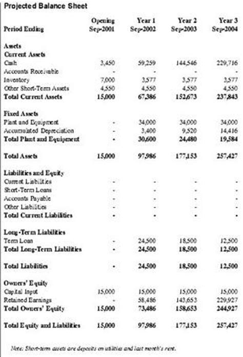 Projected Balance Sheet For Business Plan Reportz30 Web Fc2 Com Projected Balance Sheet Template For New Business