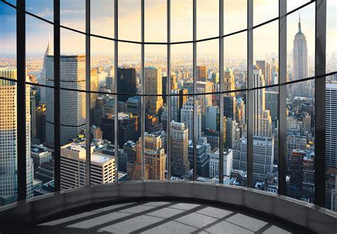 The Office City by Fototapete New York Office View Regenbogenwelt24