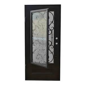 Wrought Iron Glass Doors Grafton Exterior Wrought Iron Glass Doors Vine Collection Black Right Inswing 98 Quot X40 Quot Flat Top