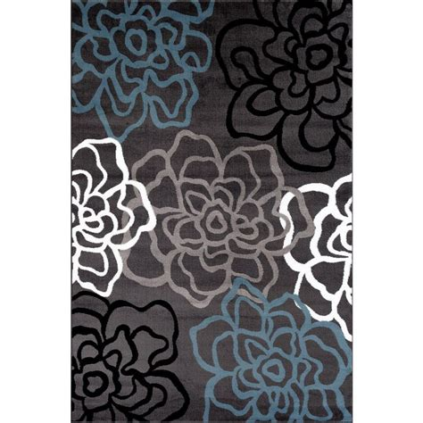 Gray Area Rugs Contemporary World Rug Gallery Contemporary Modern Floral Flowers Gray 7 Ft 10 In X 10 Ft 2 In