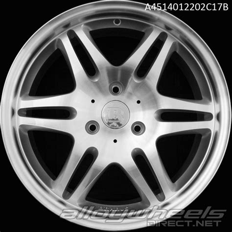 Smart Wheel Mono Wheel D 04 17 quot smart brabus mono vi wheels in silver polished surface alloy wheels direct 133989