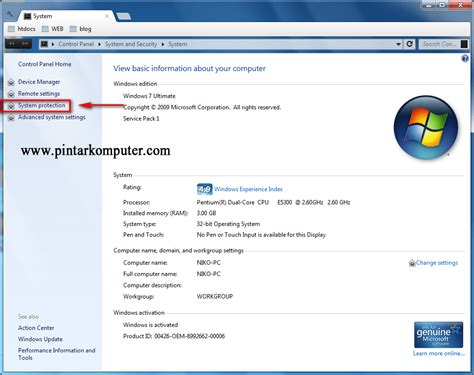 membuat virus untuk windows 7 cara membuat system restore point windows 7 pintar komputer
