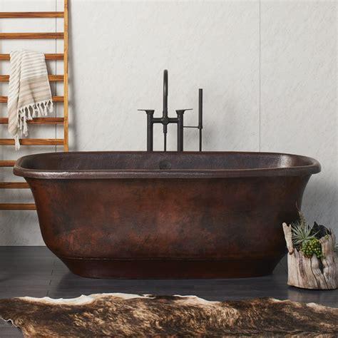 antique bathtubs santorini freestanding copper bathtub cps942 native trails