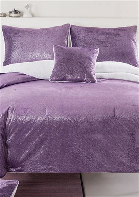 sparkle bedding seventeen 174 sparkle mink purple bedding set online only