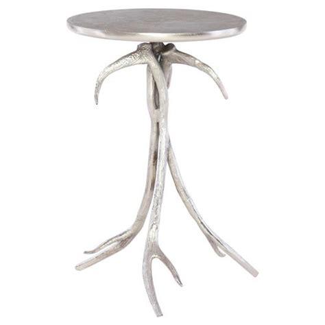 silver leaf end table lilia rustic lodge silver leaf antler end table kathy