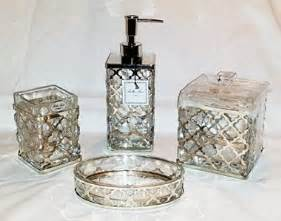 Glass Bathroom Accessories Sets Low Price On Lattice Collection Glass Bathroom Accessories 4 Set W Chrome Metal