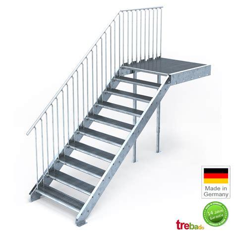 Treppen Podest by Au 223 Entreppe Gerade 10 Steigungen Laufweite 100 Cm