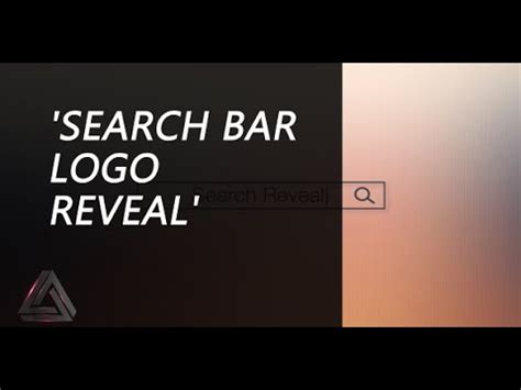 template after effects restaurant search bar logo reveal after effects template logo
