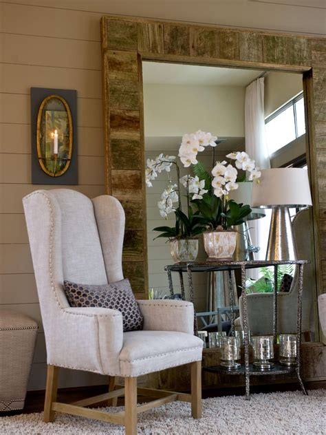 how to decorate a rental floor mirror rustic mirrors