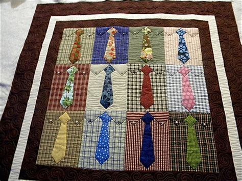pattern for shirt and tie quilt tie quilt sew happy pinterest