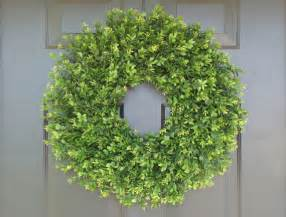 artificial boxwood wreath faux thin artificial boxwood wreath door by elegantwreath