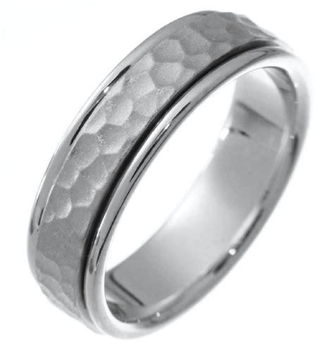 211121pp platinum hammered wedding band