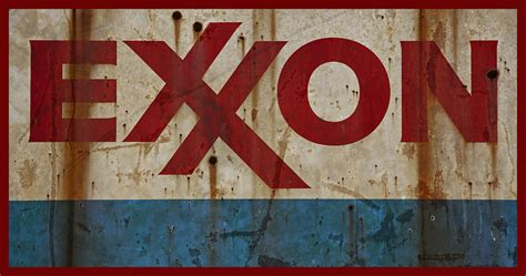 Home Decor Curtains Online Exxon Retro Grungy Rusty Sign Photograph By John Stephens