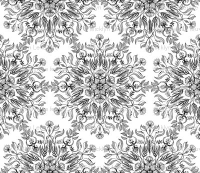 Custom Customised Personalised Mandala Doodles Back For Oneplus A thrive black and white doodle mandala fabric micklyn spoonflower
