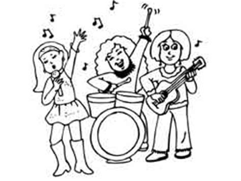coloring page musicians kindergarten