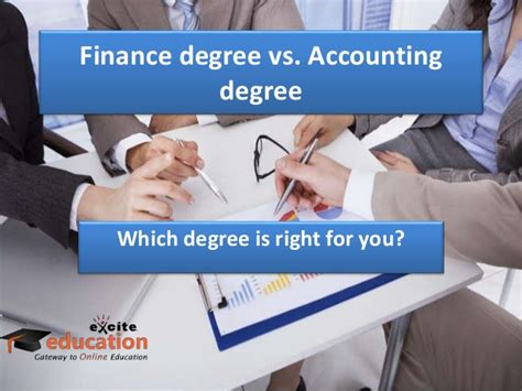 Mba In Finance Vs Mba In Accounting by Finance Degree Vs Accounting Degree