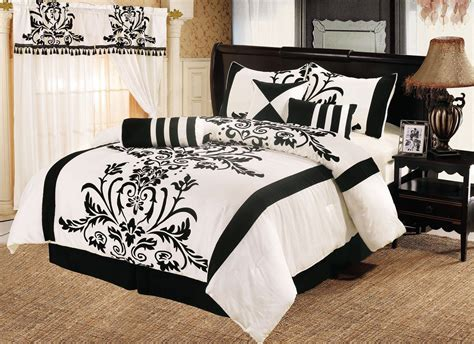 black pattern bedding black and white comforter sets queen ivory nightstand two