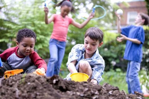 the flower childs play children spend half the time playing outside in comparison to their parents child in the city