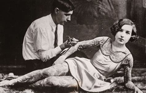 female tattoo history vintage photographs reveal tattoo mad men and women with