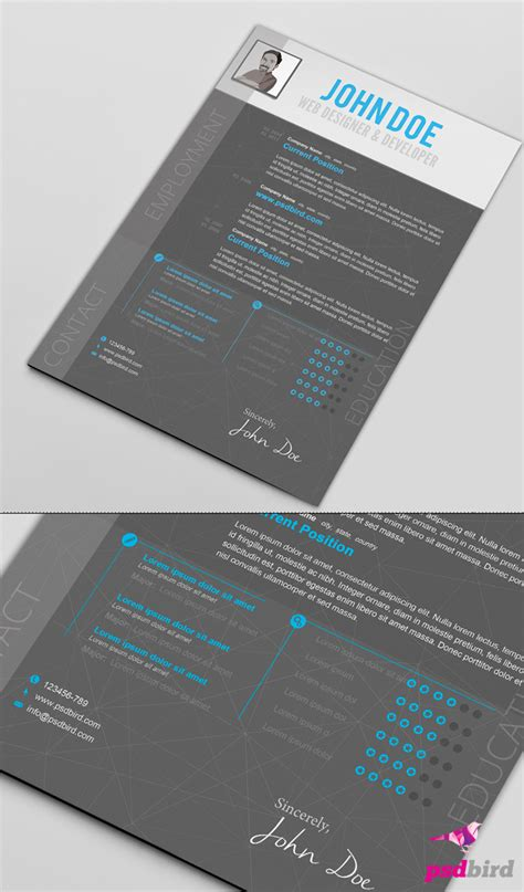 creative resume templates free psd free creative resume templates psd