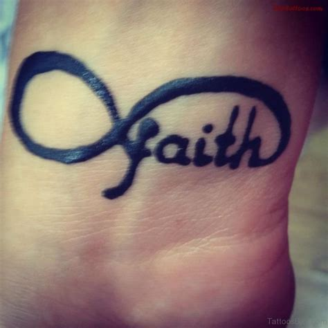 infinity faith tattoo 60 delightful infinity tattoos for wrist