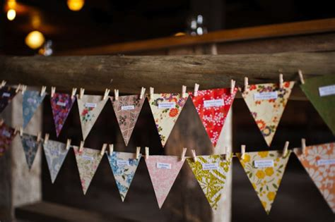 Handmade Decorations For Weddings - handmade wedding ideas reception decor bunting banners 2