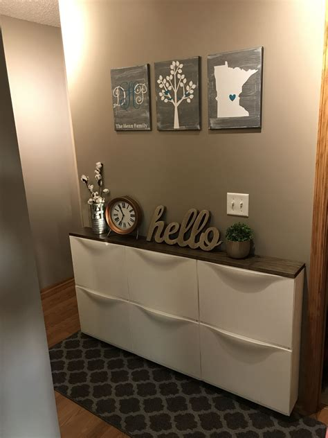 ikea hallway ikea trones hack i like the pictures idea but bigger and