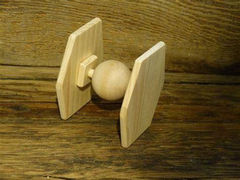 star wars inspired tie fighter spaceship handmade wooden
