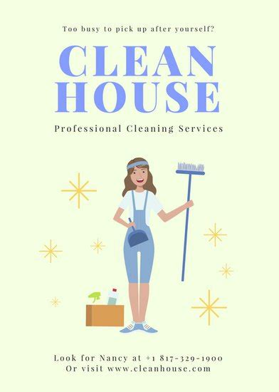 cleaning flyers templates free cleaning flyer templates canva