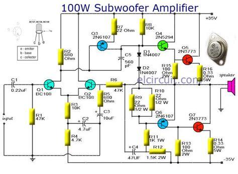 subwoofer amplifier  output  transistor audio