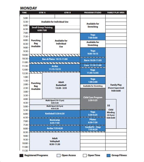 Program Schedule Templates 12 Free Word Excel Pdf Format Download Free Premium Templates Radio Program Schedule Template