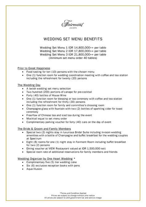 Weddingku Fairmont by Fairmont Jakarta Weddingku
