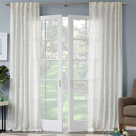 white see through curtains these are white and see through with a slight pattern