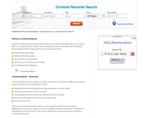 Free Criminal Record Search Top 20 Complaints And Reviews About Peoplefinders