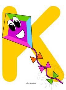 alphabet letter k coloring page