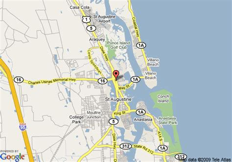 map of augustine florida map of country inn suites st augustine historic district